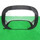 Portable Foldable Pop Up Soccer Goal Kicking Door Football Training Device Black
