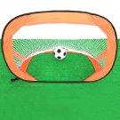 Portable Foldable Pop Up Soccer Goal Kicking Door Football Training Device Orange