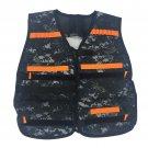 Kids Airsoft Vest with Adjustable Straps and 2 bullet holder (Camo+Orange Strap)