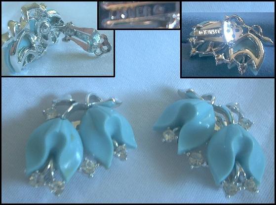 Lisner Bakelite Clip On Earring Set
