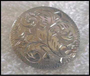 Sterling Silver Etched Brooch