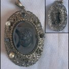ANTIQUE FILIGREE WITH CAMEO BROOCH FOR PARTS