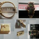 10K Yellow Gold  Mystic Topaz and Diamonds Size 9.75