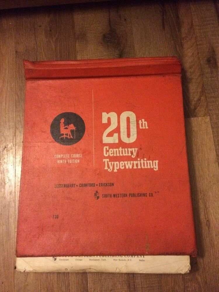 Vintage 20th CENTURY TYPEWRITING Complete Course Hardcover Textbook 9th Edition