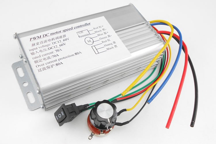 DC 10-60V 70A 4000W High Power DC Motor Speed Controller Brush Motor Controller