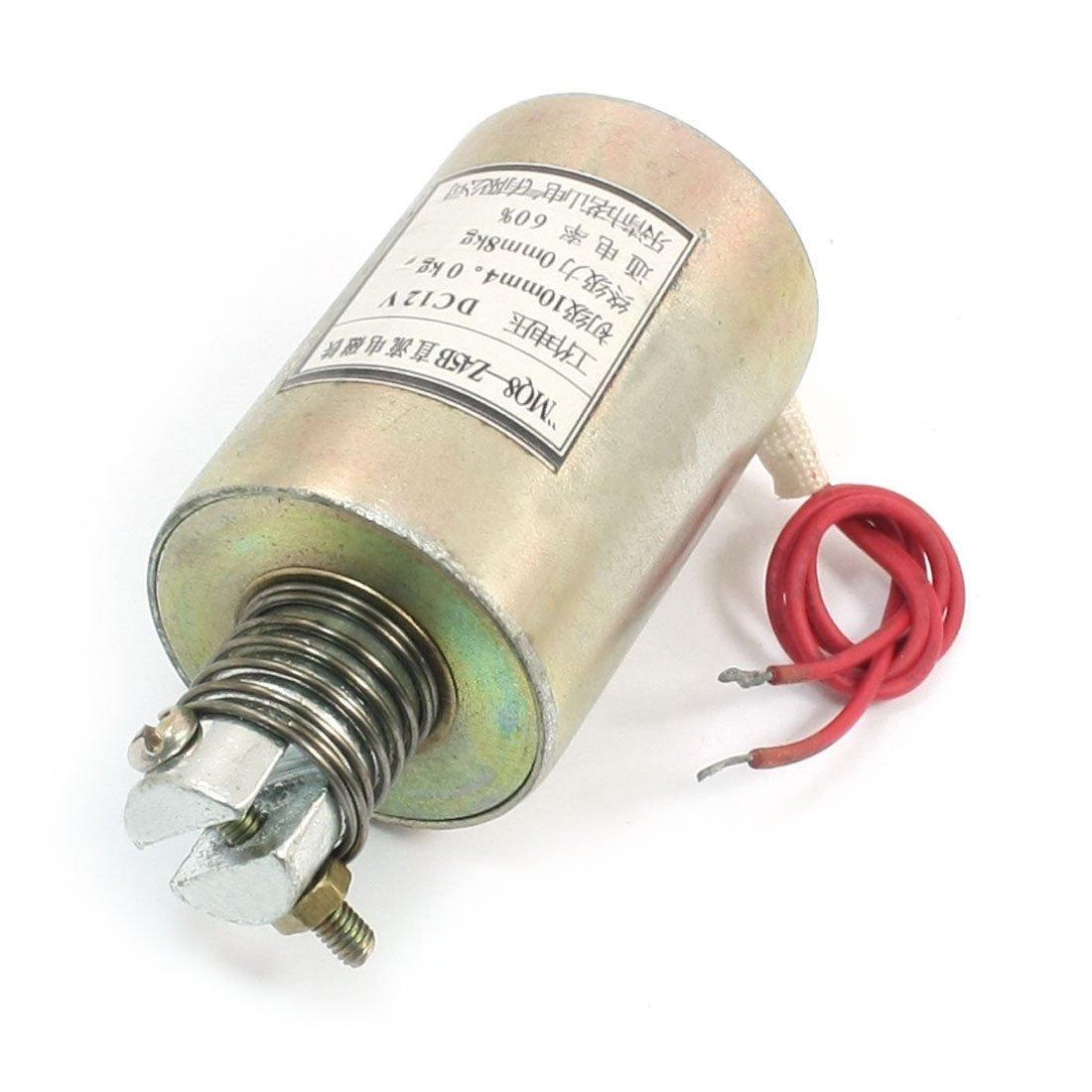 DC 12V 10mm/4Kg 0mm/8Kg Push Pull Tubular Solenoid Electromagnet MQ8-Z45B