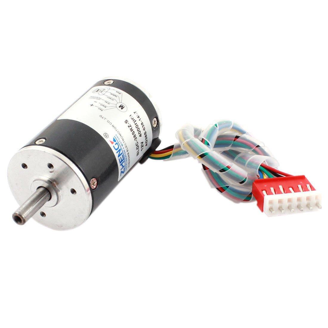 DC 12V 4000R 38mm Diameter Low Noise Adjustable Speed Brushless Motor BLDC-38SRZ