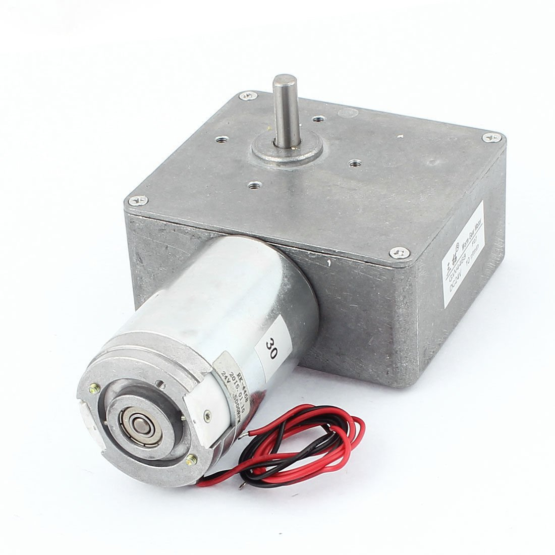 DC 12V 14RPM 2A 40KG.CM 8mm Shaft High Torque Reversible Turbine Worm Gear Motor