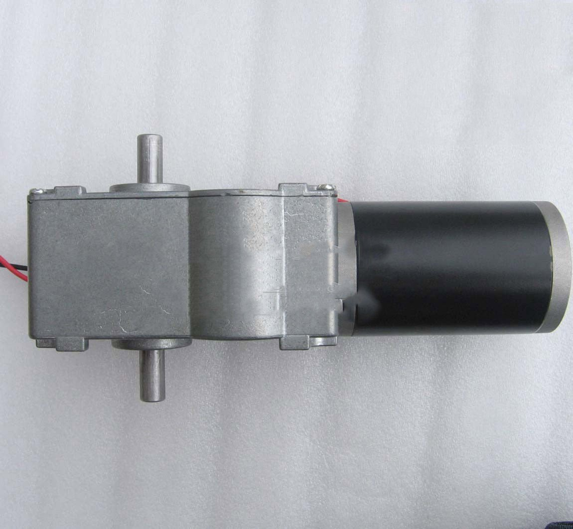 DC 24V 60RPM 68KG.cm High Torque 12mm Dual Shaft Turbo Worm Gear Motor GW63ZY