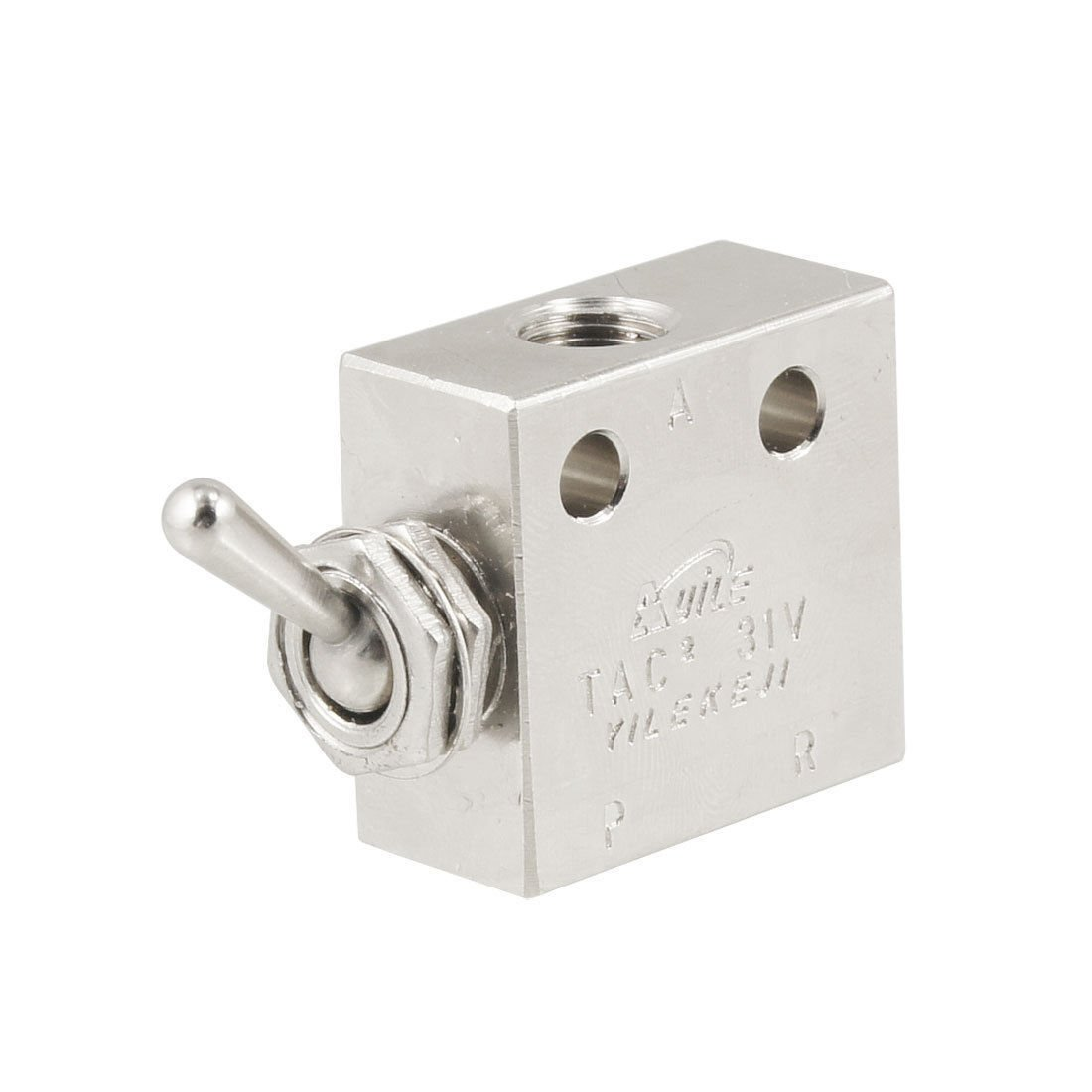 2 Position 3 Way Air Pneumatic Knob Control ON OFF Toggle Valve TAC2-31V