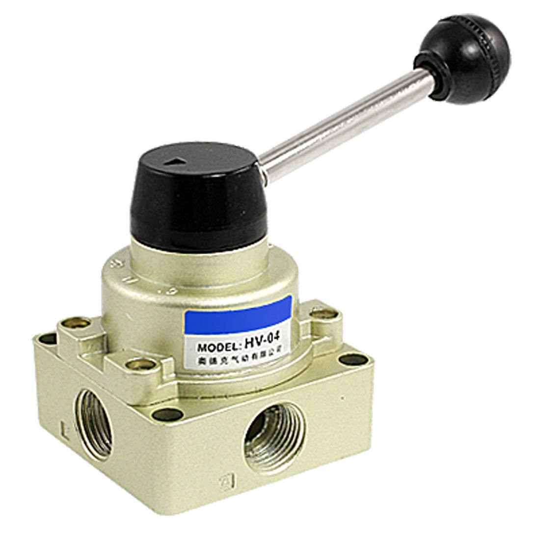 HV-04 Air Flow Control 3 Positions 4 Ways Hand Rotary Lever Valve