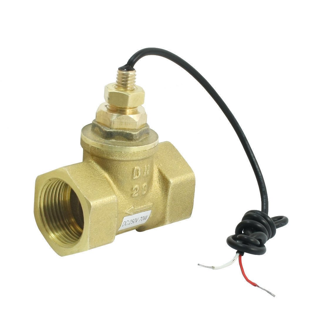 SEN-HS20 1-30L/Min 10mA 70W 3/4PT Female Port Thread Brass Piston Flow Switch