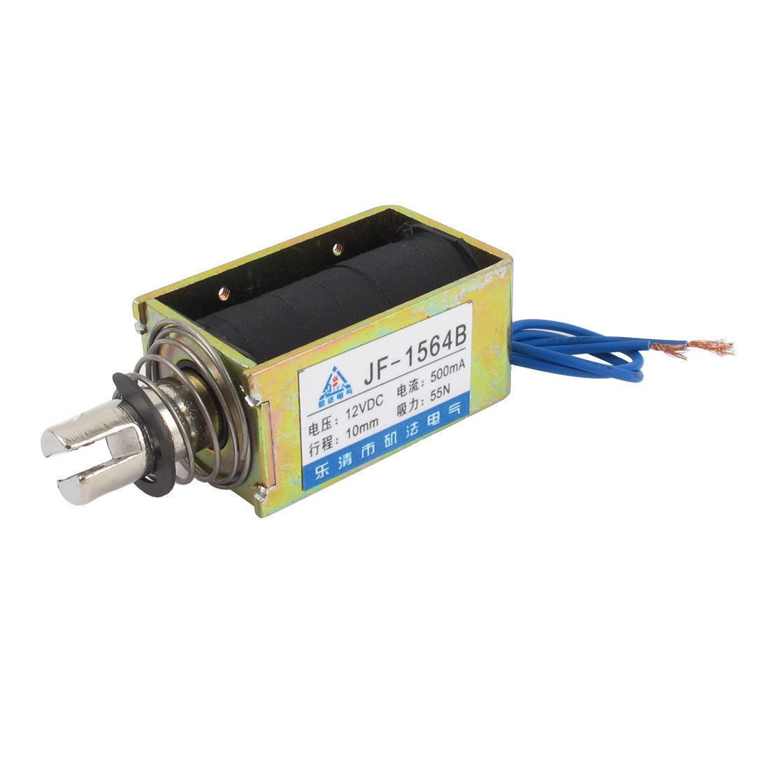 DC 12V 500mA 55N Push Type Open Frame Actuator Solenoid Electromagnet JF-1564B