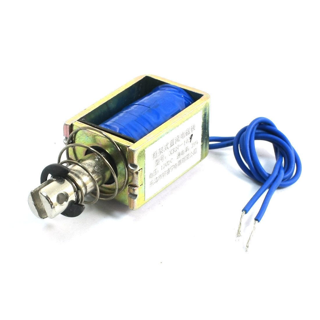 DC 12V 10mm 5Kg Electric Electromagnet Solenoid Open Frame Push Pull