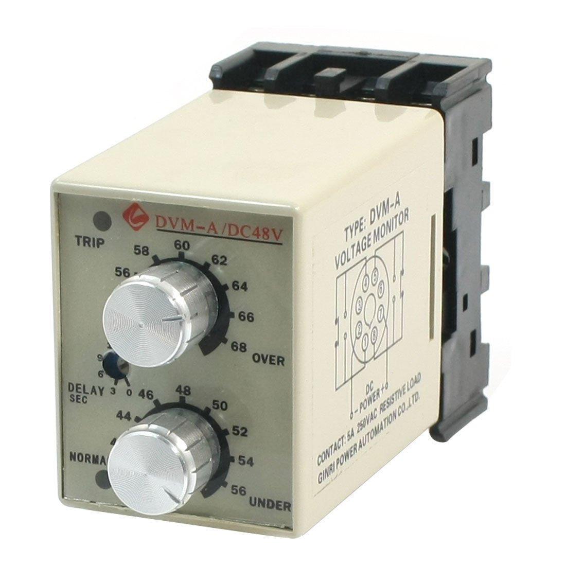 DC 48V Adjustable Over/Under Voltage Protection Monitoring Relay DVM-A/48V