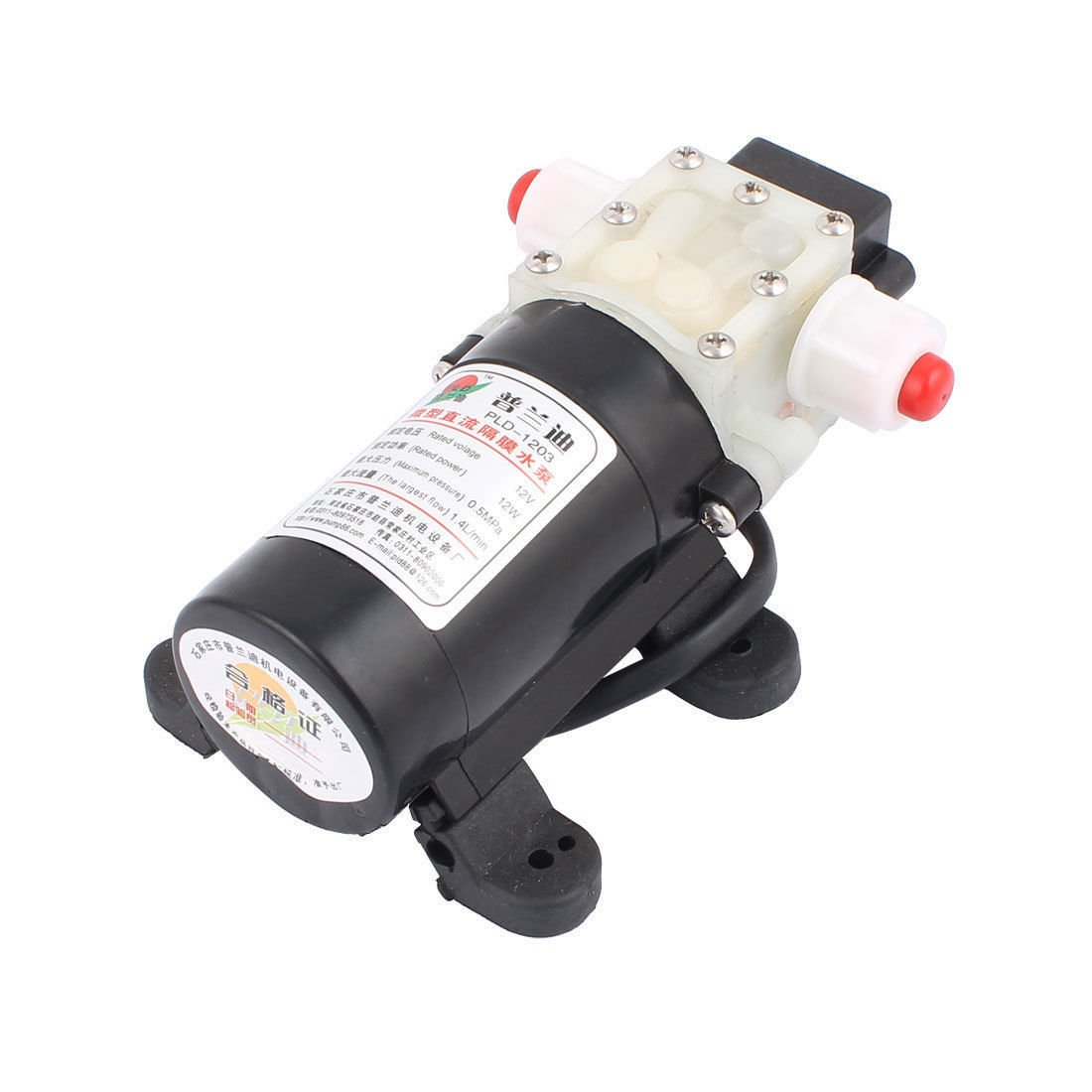 DC 12V 12W Micro Motor Water Pumps 10mm Thread Outlet Inlet Diaphragm Pump