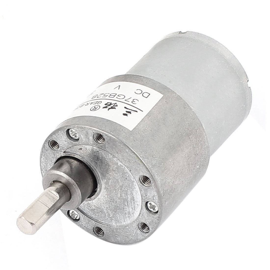 DC 12V 8RPM 0.2A 37mm Diameter 9KG.cm DC GearBox Reducer Variable Speed Motor
