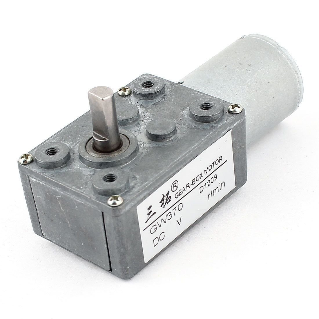 12V 5RPM 11kg.cm 0.3A Low Speed High-torque Reducer Gearbox DC Worm Gear Motor
