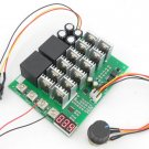 DC 10V-55V 60A Poleless Motor Speed Controller Digital Dial Speed Governor