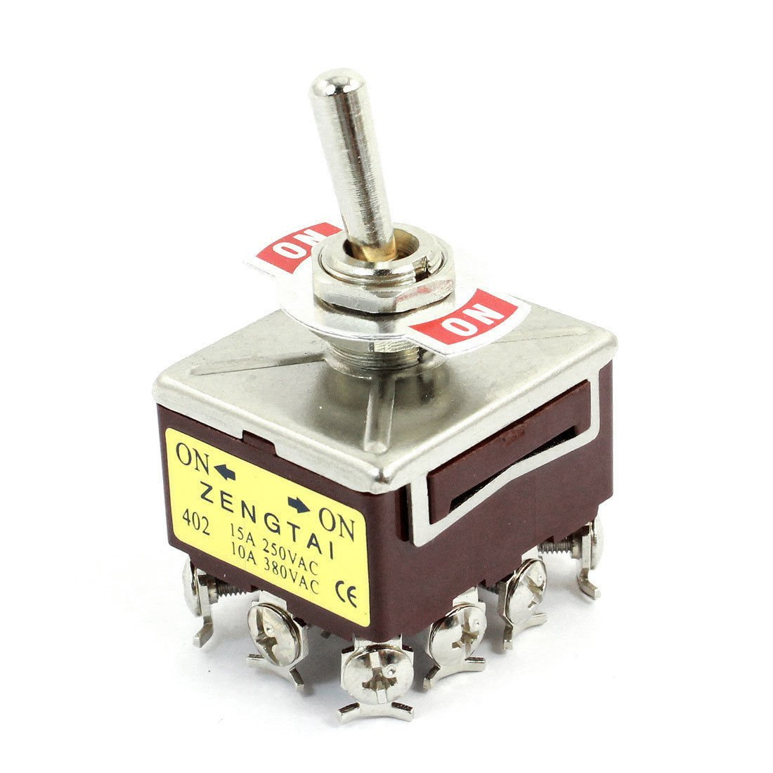 10A/380VAC 15A/250VAC 12 Terminals 3PDT ON/ON 2 Position Toggle Switch E-TEN402