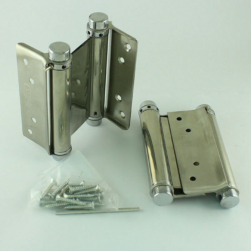 "A pair 4"" Double Action Spring Hinge Saloon Cafe Door Hinge Swing Western Door"