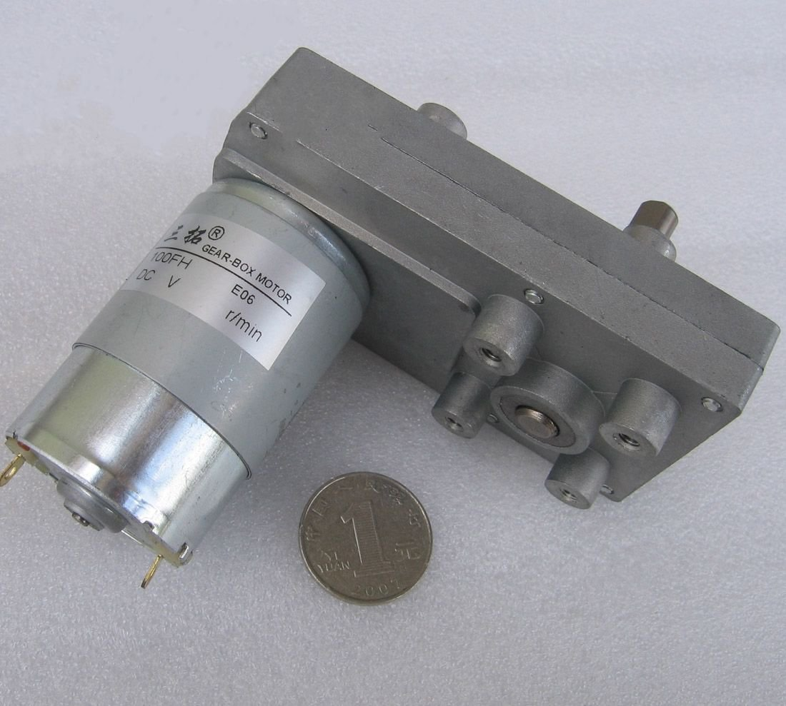 DC 12V 60RPM 1.5A 18W 11KG.cm High Torque Brush DC Gear Box Motor Speed Reducer