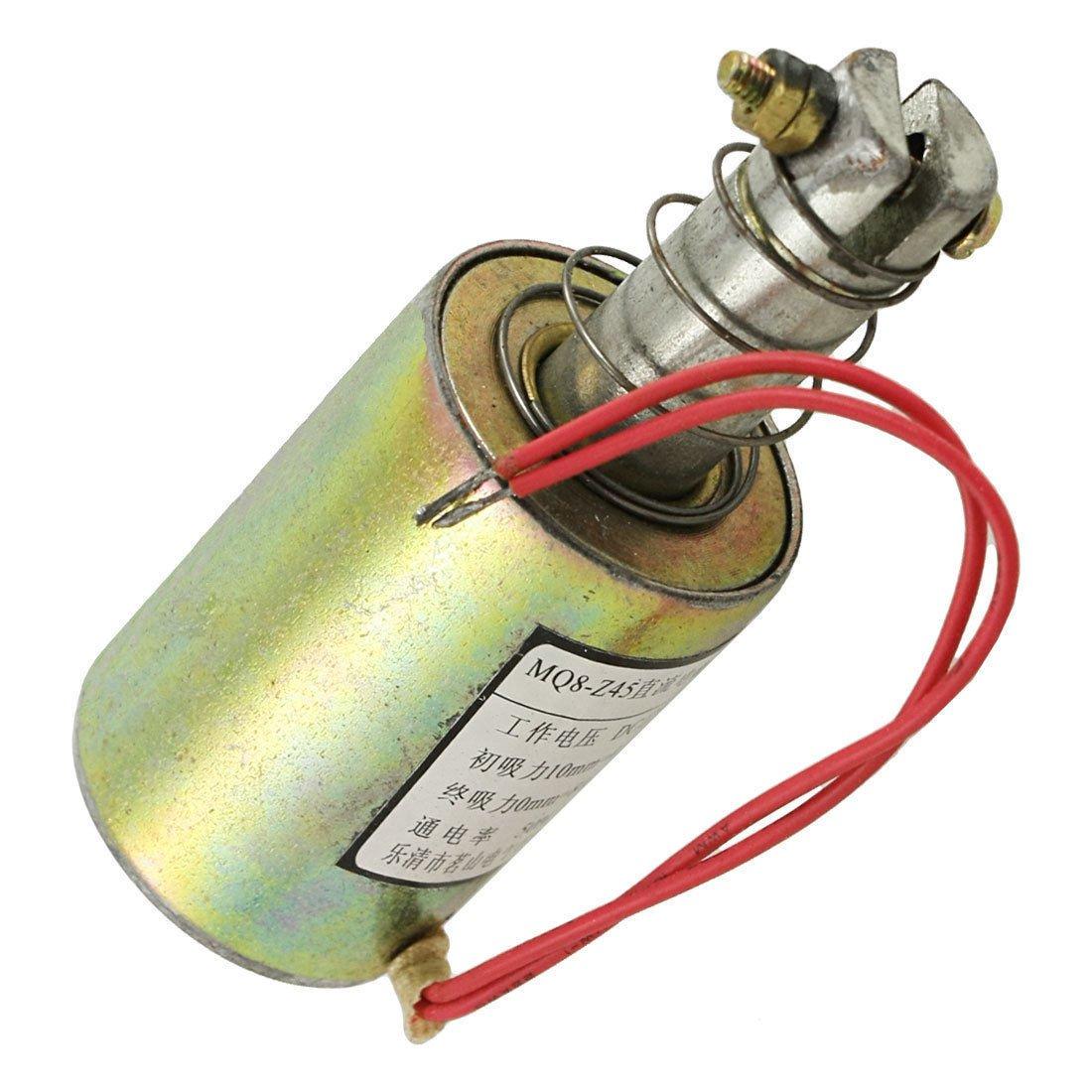 MQ8-Z45 DC 12V 10mm 4.5Kg Pull Type Tubular Solenoid Electromagnet
