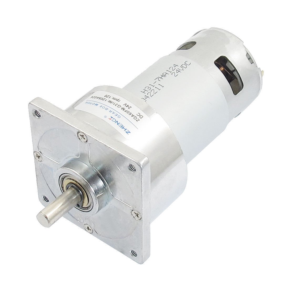 DC 24V 120RPM 8mm Shaft Dia Permanent Magnetic  Geared Motor ZGA60FM-G