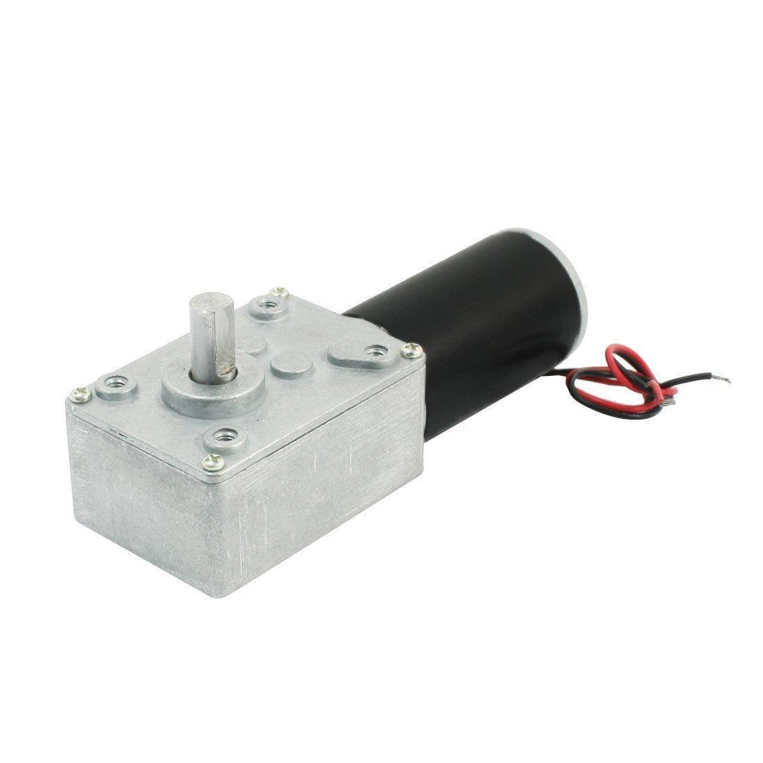DC 24V 80RPM Rotary Speed Reduce High Torque Worm Gear Motor