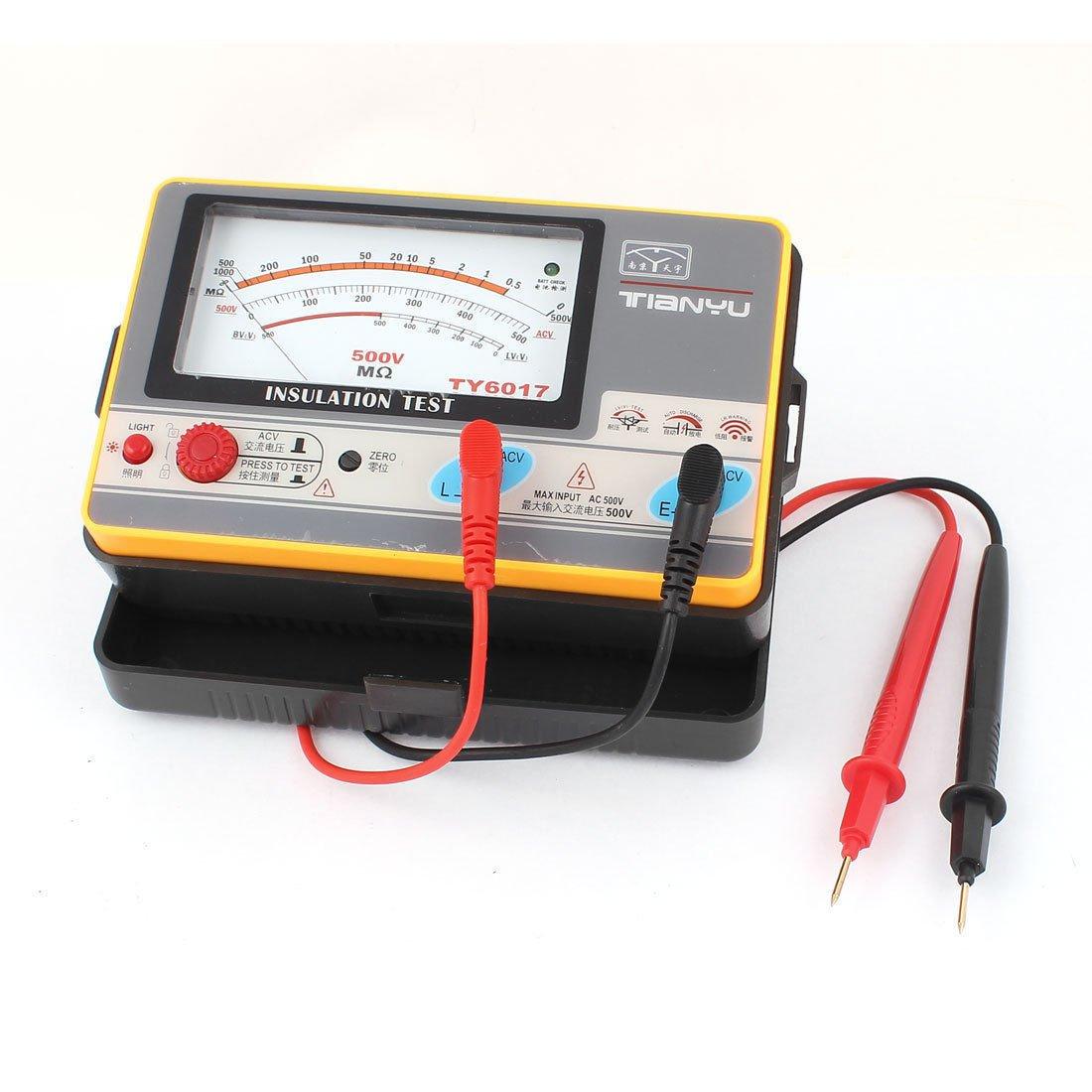 Automatic Alarm Volt Measurement Analog Insulation Resistance Tester TY6017