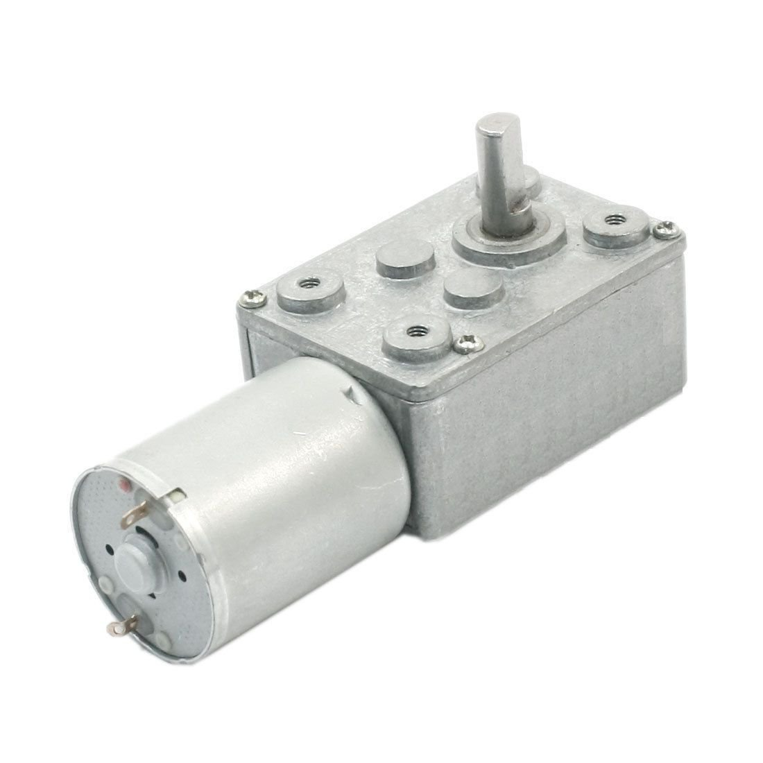 DC 12V 6mm Shaft High Torque Turbine Worm Gear Box Reduction Motor
