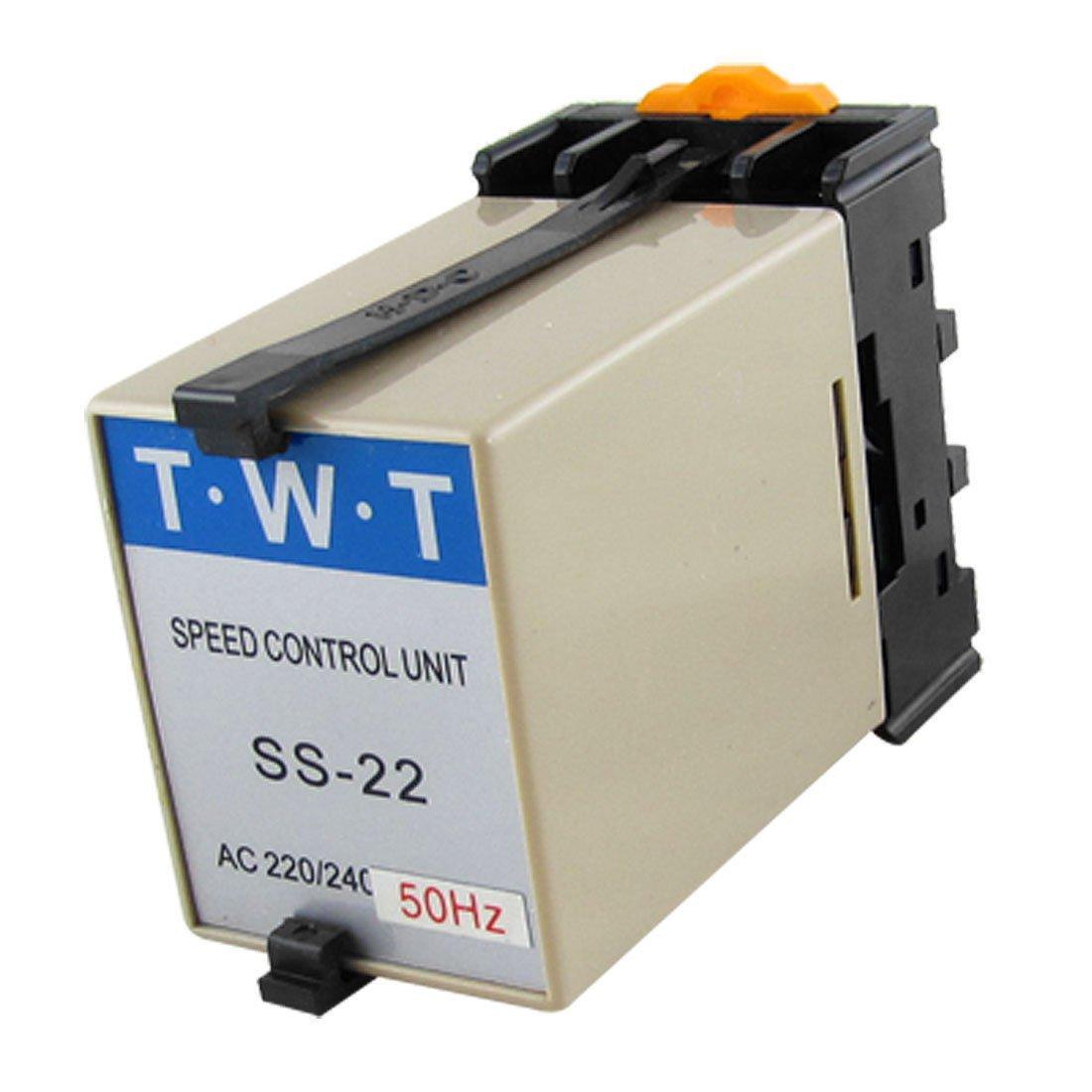 AC 220V/240V Motor Speed Controller Switch w 20K Ohm Potentiometer SS-22