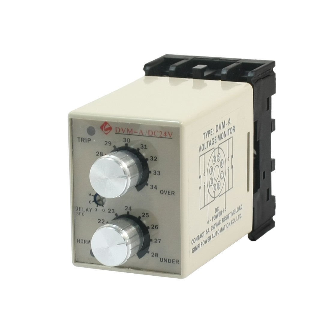 DVM-A DC 24V Protective Adjustable Over/Under Voltage Monitoring Relay