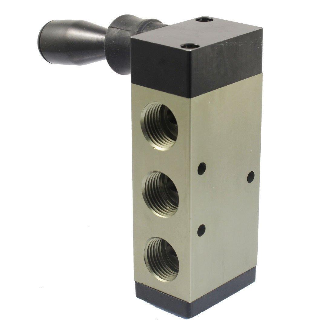 "5 Port 2 Position Manual Hand Pull Valve 1/2""PT Inlet Outlet 4H410-15"