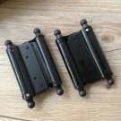 "A Pair 3"" 4"" 5"" Retro Door Adjustable Tension Double Action Spring Hinges"