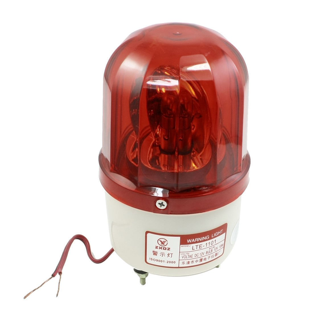 DC 12V 10W Industrial Safety Red Indicating Rotary Flash Warning Light