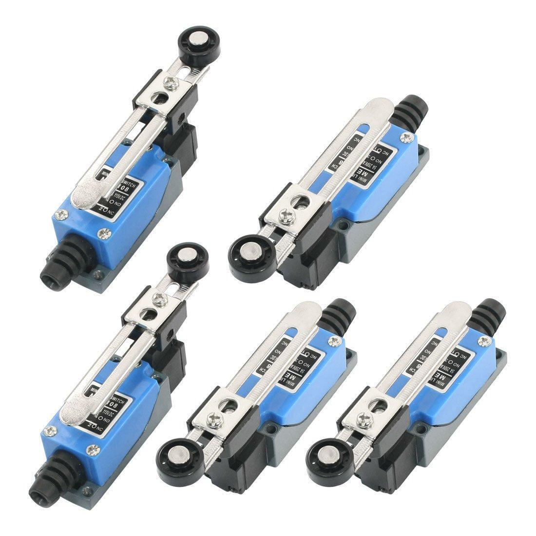 5Pcs ME8108 AC250V 5A DC115V 0.4A Momentary Enclosed Mini Limit Switch