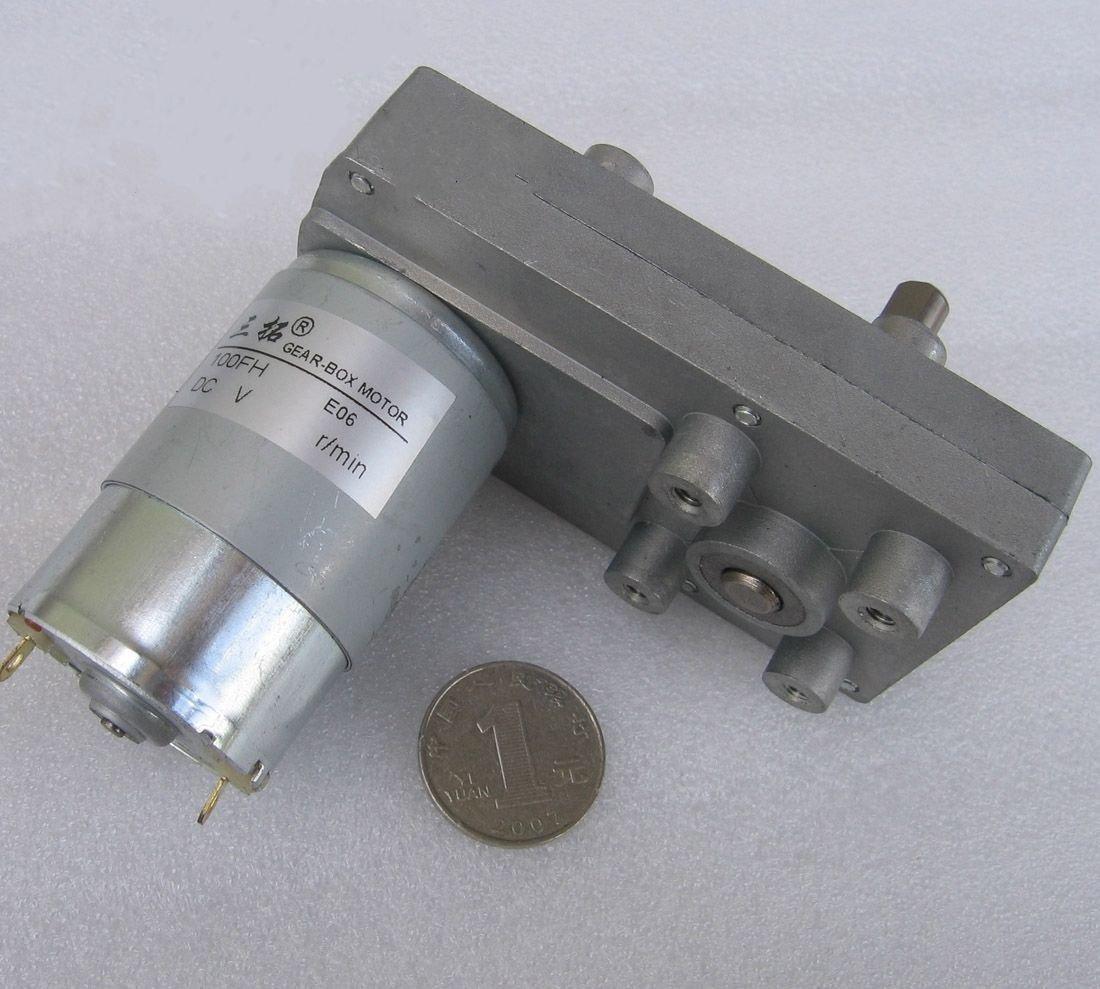 DC 24V 100RPM 1A 24W 7.5KG.cm High Torque Brush DC Gear Box Motor Speed Reducer