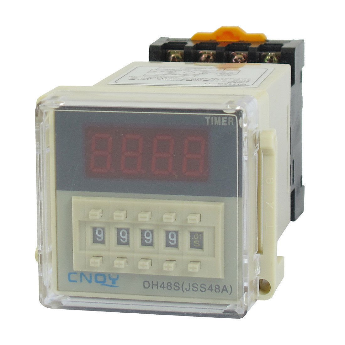 DH48S-11 Power on Time Delay Relay 11-Pin SPDT 0.01S-99H99M AC/DC12V w Socket
