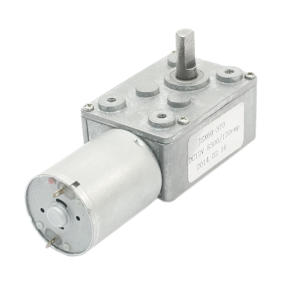 DC 12V 8300RPM/120RPM 4.5mm D Shaft Reduction Ratio Worm Geared Box Motor