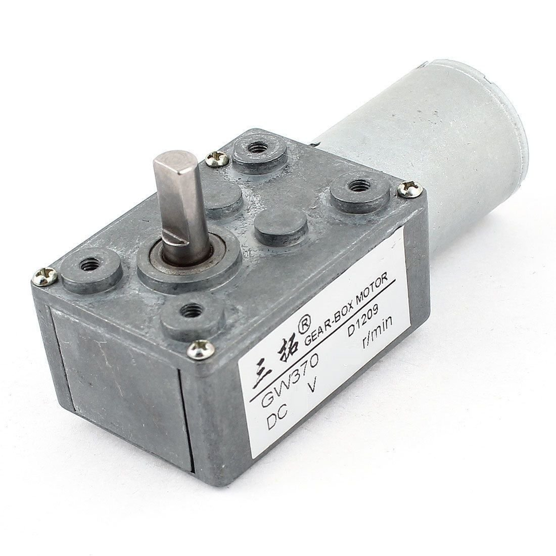 DC 24V 1.2RPM 24KG.cm High Torque Reducing Gearbox Motor DC Worm Gear Motor