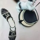 Moroccan hand braided wedges mules & bag made of raffia and leather