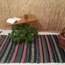 Multicolor Hand-woven Rag Rug- Striped Runner Rug-Turkish Kilim-Boucherouite Rug-Cotton Rug