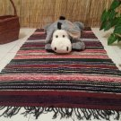 Multicolored Cotton Striped Rag Rug Handwoven Kilim Runner Rug Small 3 ft x 5 ft