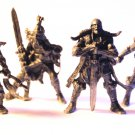 Warriors of Chaos, Barbarians, Metall, Lord of the Rings, Vintage, Miniature,  Set of 4 subjects