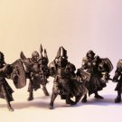 Knight, Paladin, Metal,  Warhammer, Lord of the Rings,Tin,  54mm,  a set of 5 things
