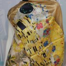 Gustav Klimt Scarf The Kiss Silk Scarft The Kiss Print Silk Scarves Women Hand Painted Silk Scarf