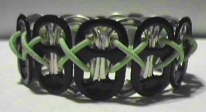 Black & GID Lime Pop-Tab Bracelet (CX)