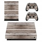 Wooden Baord decal skin sticker for Xbox One X console and controllers