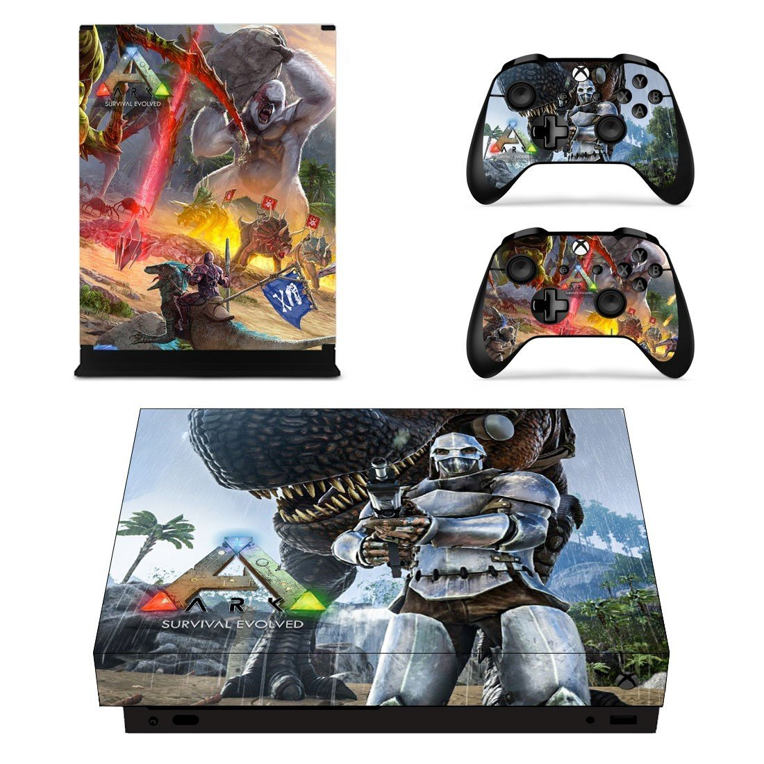 ARK Survival Evolved decal skin sticker for Xbox One X console and controllers